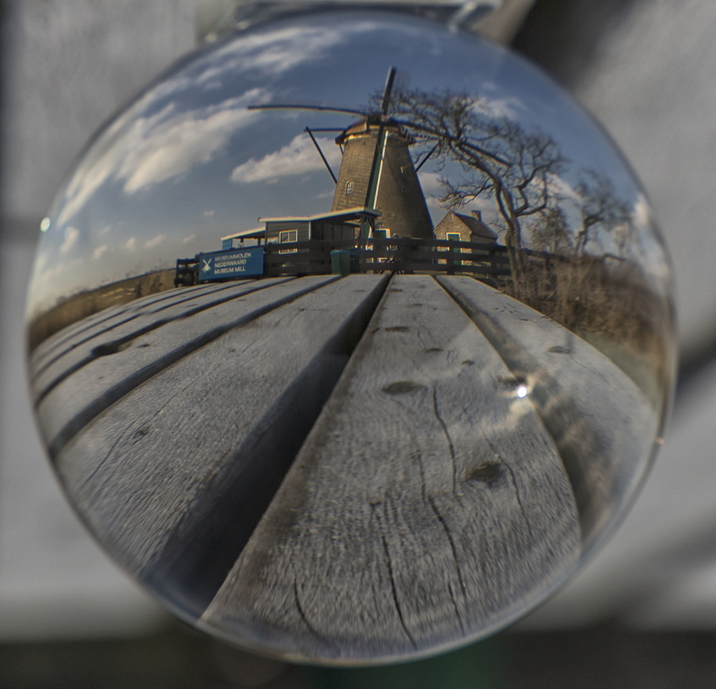 Glass sphere windmill